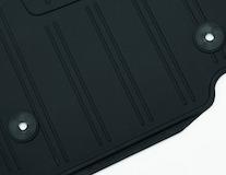 Килимки на підлогу гумові передні, чорні