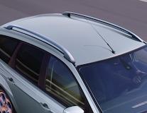 Barres de toit longitudinales argent