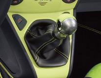 Punho da alavanca da caixa de velocidades design em alumínio com inserção em pele Jump (verde)