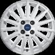 """Jante en alliage 16"""" modèle RS 15 branches, blanc"""