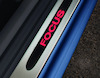Scuff Plates front, with red illuminated Focus logo