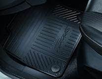Gumové rohože přední sada 2 kusů v černé barvě s logem Focus