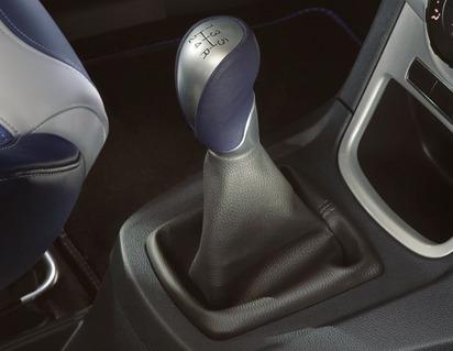 Gear Lever Knob blue leather and aluminium design