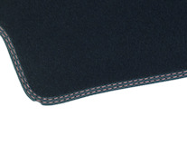 Rohože, prémium velúrové zadné, černe s hnedou niťou