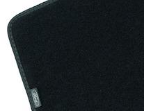 Gulvmåtter, standardtæppe bag, sort, til 3. sæderække
