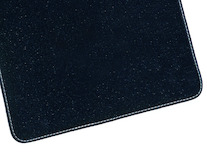 Rohože, prémium velúrové zadné, čierna so striebornými dvojitými švami