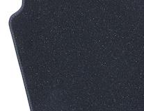 Rohože, prémium velúrové predné, čierne