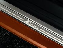 Dorpellijsten voor, met Fiesta-logo