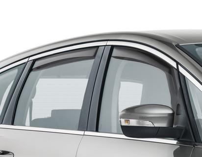Deflector de aer geam lateral ClimAir®* pentru geamurile laterale din față, negru