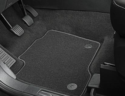 Gulvmåtter, standardtæppe for, sort