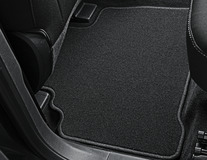 Podlahové koberce, standardní zadní sada v černé barvě