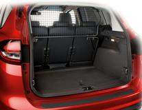 Dispozitiv de reţinere şi protecţie a încărcăturii  jumătate din înălţime, a se fixa în spatele celui de-al 2-lea rând de scaune.
