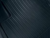 Gumové rohože zadní, černé