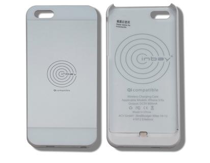 ACV* Qi-Ladehülle für iPhone® 5/5S, silber