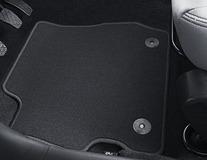 Podlahové koberce, standardní v černé barvě, přední dada