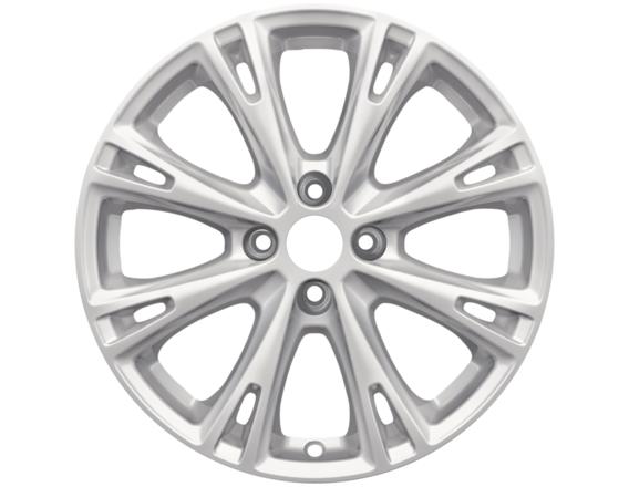 "Lichtmetalen velg 17"" 8-spaaks design, Sparkle Silver"