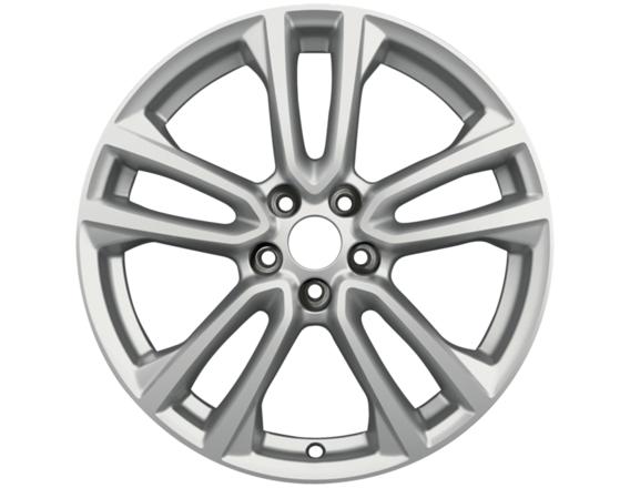 """Lichtmetalen velg 18"""" 5 x 2-spaaks design, zilver"""