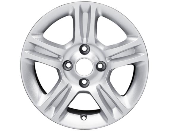 """Lichtmetalen velg 15"""" 5x2-spaaks design, zilver"""