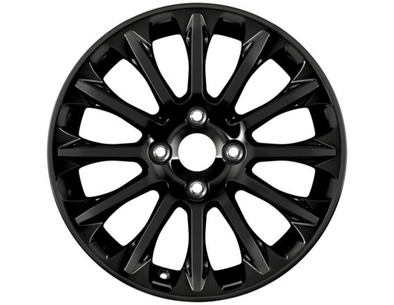 "Lichtmetalen velg 16"" 12-spaaks design, Panther Black"
