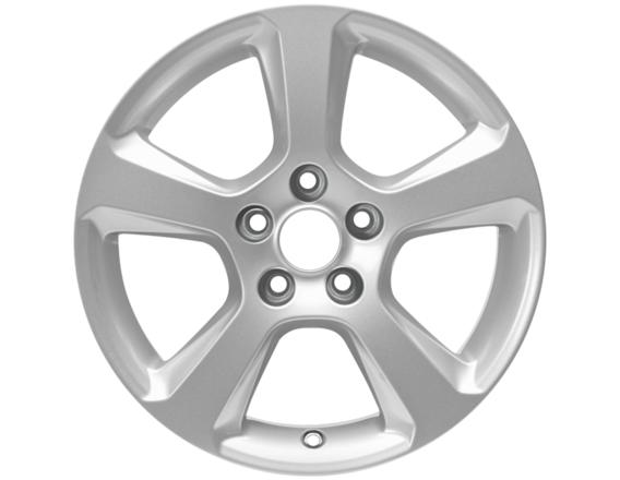 """Lichtmetalen velg 16"""" 5-spaaks design, zilver"""
