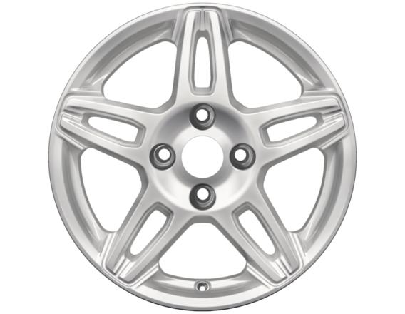 "Lichtmetalen velg 15"" 5 x 2-spaaks design, sparkle silver"