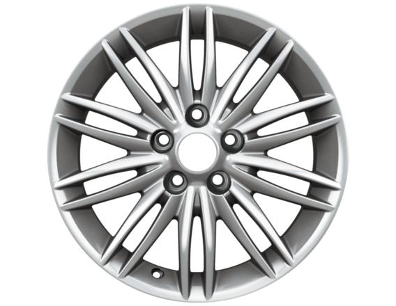 "Lichtmetalen velg 16"" 10 x 2-spaaks premium design, zilver"