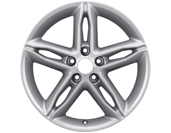 """Lichtmetalen velg 17"""" 5-spaaks premium design, zilver"""