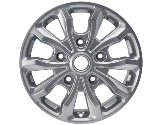 """Lichtmetalen velg 17"""" 10-spaaks design, sprankelend zilver"""
