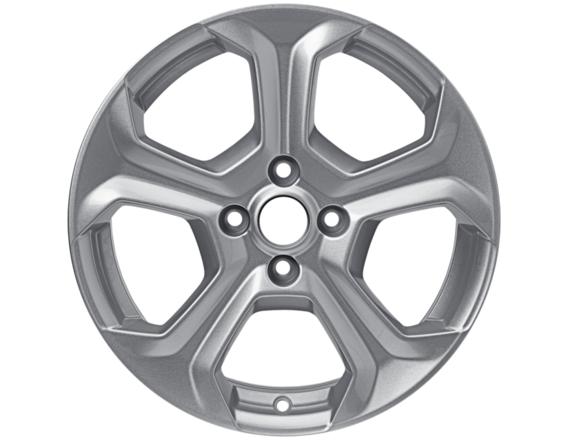 """Lichtmetalen velg 17"""" 5-spaaks design, sprankelend zilver"""