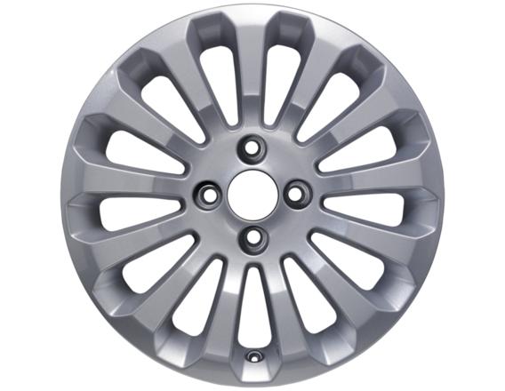 """Lichtmetalen velg 15"""" 13-spaaks design, zilver"""