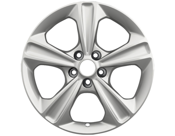 """Lichtmetalen velg 17"""" 5-spaaks design, zilver"""