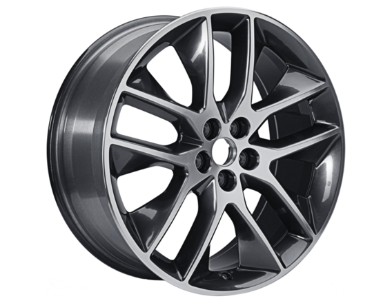 """Alloy Wheel 20"""" 5 x 2-spoke design, Dark Stainless"""