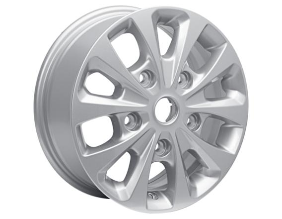 "Lichtmetalen velg 16"" 10-spaaks design, Sparkle Silver"