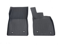 All-Weather Floor Mats front, black, tray style with raised edges