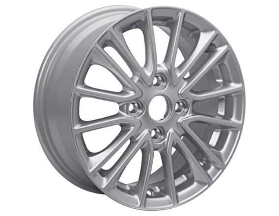 "Alloy Wheel 15"" 8 x 2-spoke design, Sparkle Silver"
