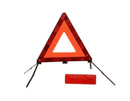 Kalff* Advarselstrekant Nano, i rød kasse