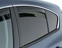 ClimAir®* Defletor de Vento para os vidros das portas traseiras, em preto