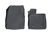 Rubber Floor Mats in tray style with raised edges, front, black
