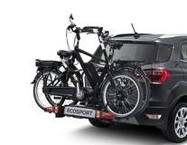 Uebler* Porte-vélos sur attelage I21, pour 2 vélos, inclinable à 90°