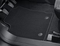 Podlahové koberce, standardní přední a zadní sada v černé barvě