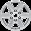 "Alloy Wheel 17"" 6-spoke design, silver"