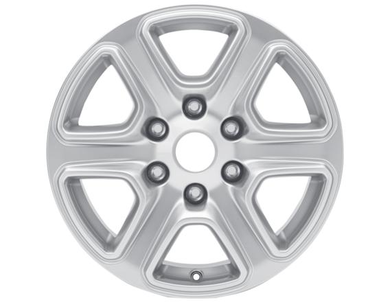"""Lichtmetalen velg 17"""" 6-spaaks design, zilver"""