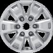 "Alloy Wheel 16"" 6-spoke design, silver"