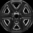 "Alloy Wheel 17"" 6 x 2-spoke design, Panther Black"