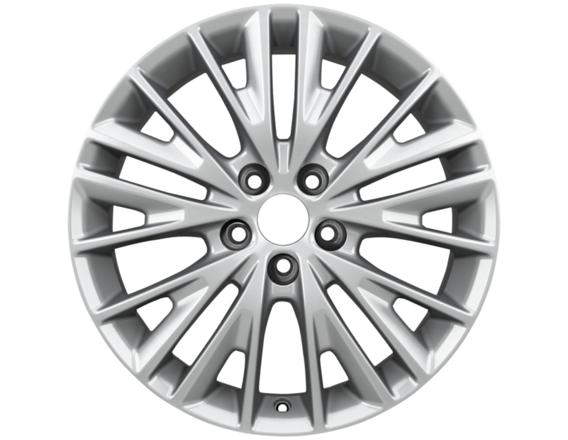 """Lichtmetalen velg 17"""" 10-spaaks premium design, zilver"""