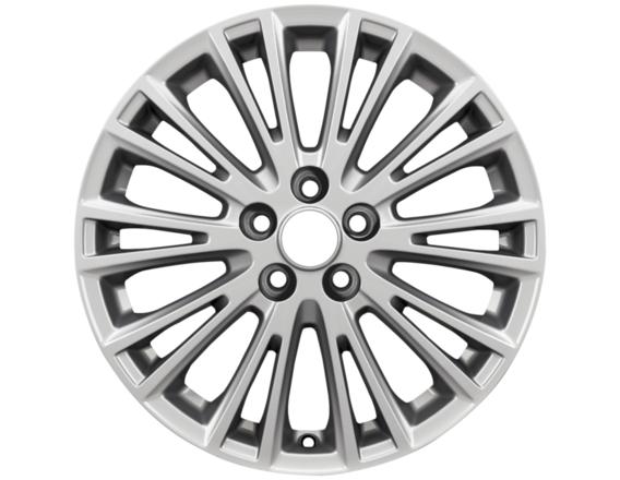 """Lichtmetalen velg 17"""" 10-spaaks V-design, sparkle silver"""