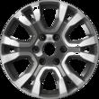 "Alloy Wheel 18"" 6 x 2-spoke design, Arctic Grey machined"