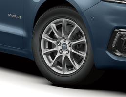 "Alloy Wheel 16"" 10-spoke design, sparkle silver"