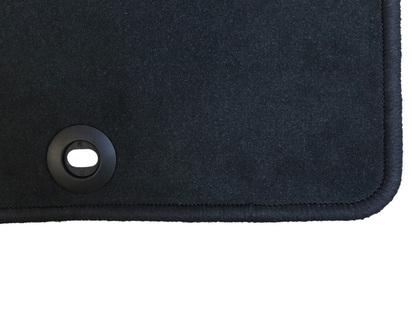 Velour Floor Mats front, black