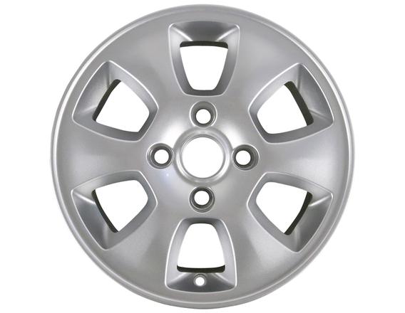 """Lichtmetalen velg 14"""" 6-spaaks design, zilver"""